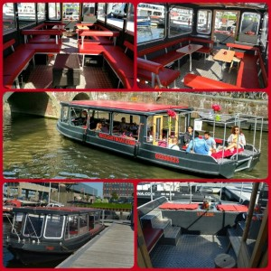 Red light boat. Open & covered. Perfect for any kind of weather